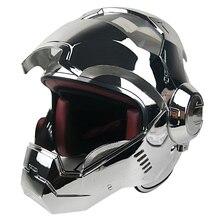 Vcoros, полный Fcae, Железный человек, мотоциклетный шлем со съемным и моющимся держателем, емкость для мотоцикла, ciclista capacete moto