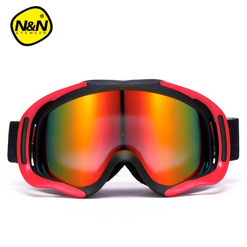 Hommes lunettes de Ski hiver Ski lunettes Double couche grand sphérique Anti-brume Ski lunettes femmes Ski lunettes myopie adaptateur - 3