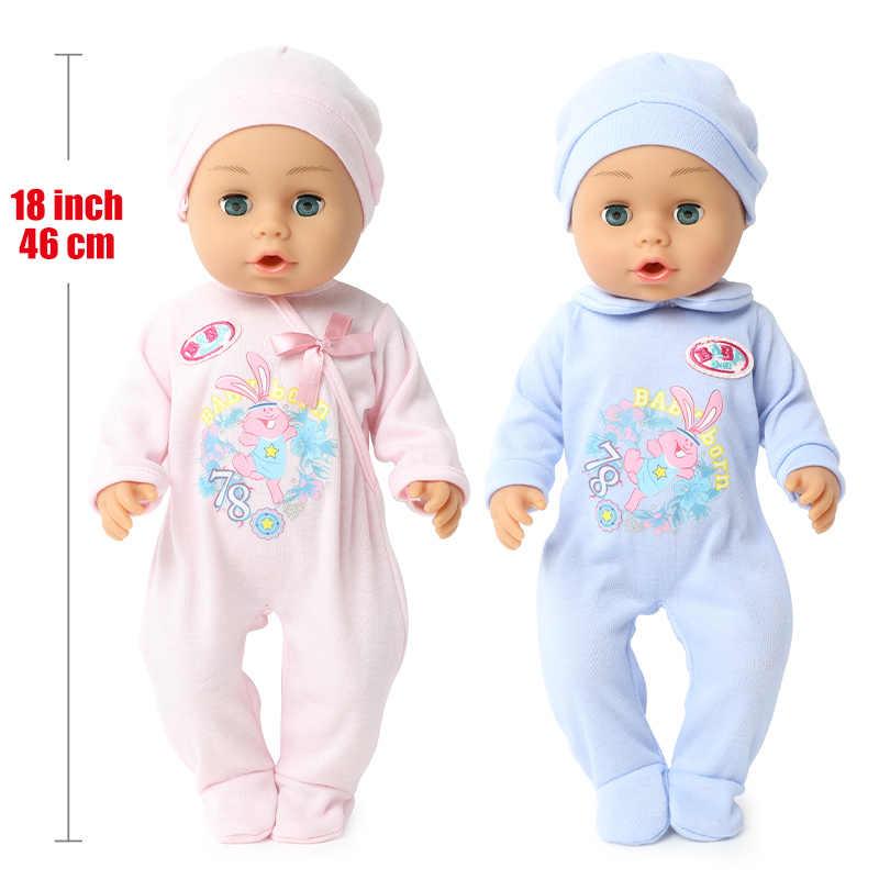 18 inch bebe reborn doll 46 CM 방수 실리콘 실물 신생아 젖병 병 음료수 귀여운 인형 장난감 Chlidren