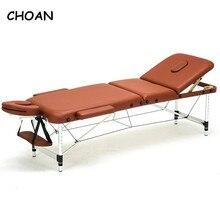 186cm * 60cm spa tatuaż ciało uroda meble przenośne składane łóżko do masażu salon twarzy ze stopu aluminium regulowany stół do masażu