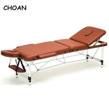 186cm * 60cm spa tatuaje cuerpo belleza muebles portátil plegable masaje cama salón facial aleación de aluminio ajustable mesa de masaje