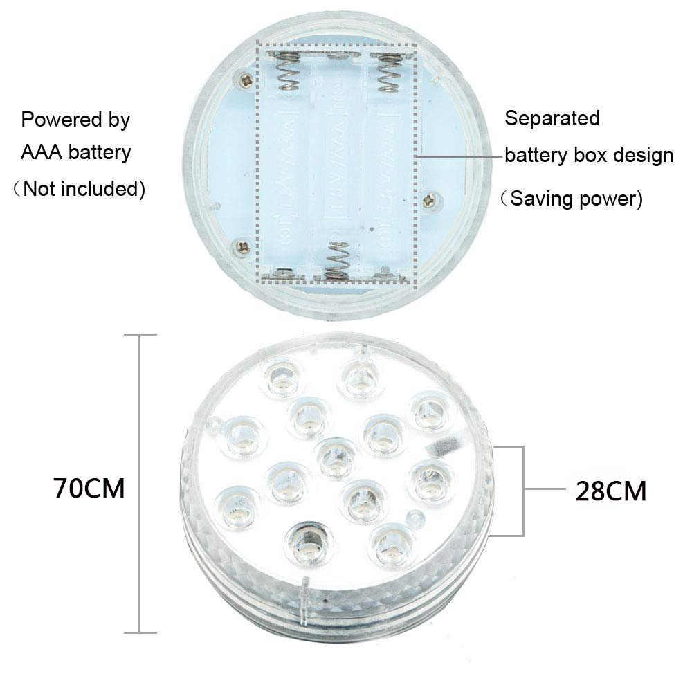 Submersible Lampu LED IP68 Tahan Air Underwater Lampu Warna-warni Lampu Akuarium untuk Air Mancur Kolam Renang Vas Ikan Tangki Pernikahan