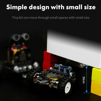 1Set Micro:bit Graphical Programming Robot Mobile Platform Smart Car V4.0 Support Line Patrol Ambient Light Accessories 1