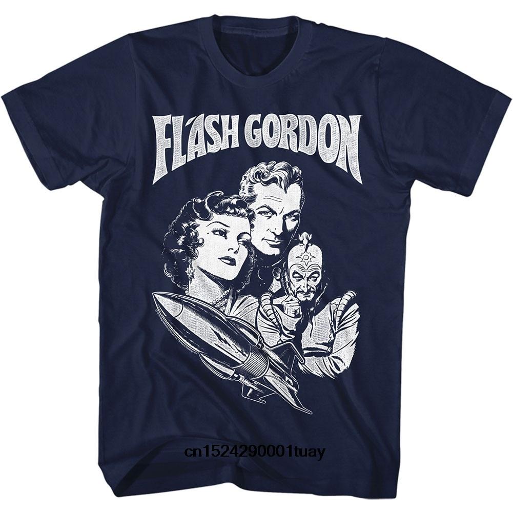 Funny t shirt men novelty women tshirt Flash Gordon Gordon Slim Fit T-shirt(China)