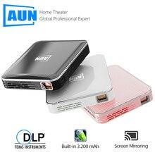 AUN MINI projektor X3, wbudowany system multimedialny wideo Beamer, wsparcie ekran telefonu komórkowego Mirroring, projektor 3D dla 1080P