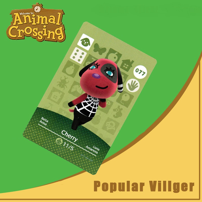 077 Animal Crossing Amiibo Card Cherry Amiibo Card Animal Crossing Series 1 Cherry Nfc Card Work For Ns Games Dropshipping