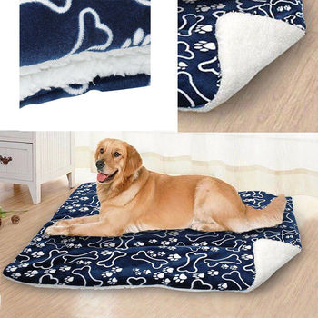 Large Pet Dog Cat Blanket Bed Puppy Cushion House Pet Soft Warm Kennel Pets Dogs Mat Blankets image