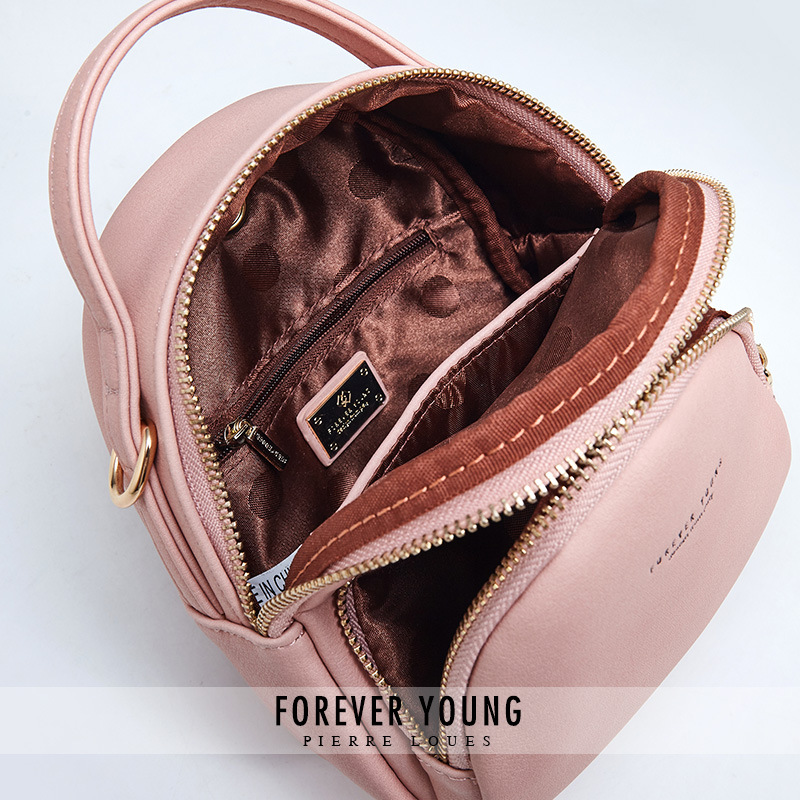 Купить с кэшбэком YIZHONG Brand Fashion Women Backpack Mini Soft Touch Multi-Function Leather Backpack Female Ladies Shoulder Bag Girl Purse