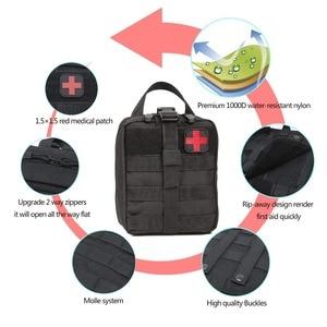 Image 3 - Kamp ilk yardım çantası taktik tıbbi taşınabilir askeri yürüyüş ilaç paketi acil Oxford kumaş bel paketi büyük boş çanta