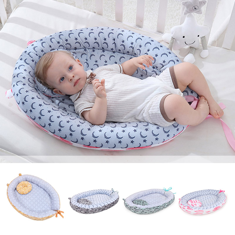Newborn Baby Portable Bed Nest Removable And Washable Crib Travel Bed Nest Bed Crib Cotton Crib Travel Bed For Infant Kids