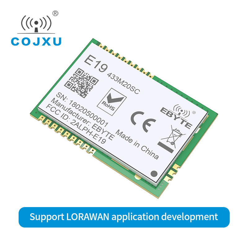 SX1278 LORaWAN Lora Wireless Module SPI E19-433M20SC Long Range Transmitter And Receiver 433mhz Data Communication Stamp Hole
