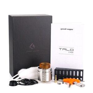 Image 5 - Orijinal Geekvape TALO X RDA 24mm Vape tankı Rebuildable damlama Atomizer 510 iplik Pin Squonk kutusu Mod VS wasp Nano