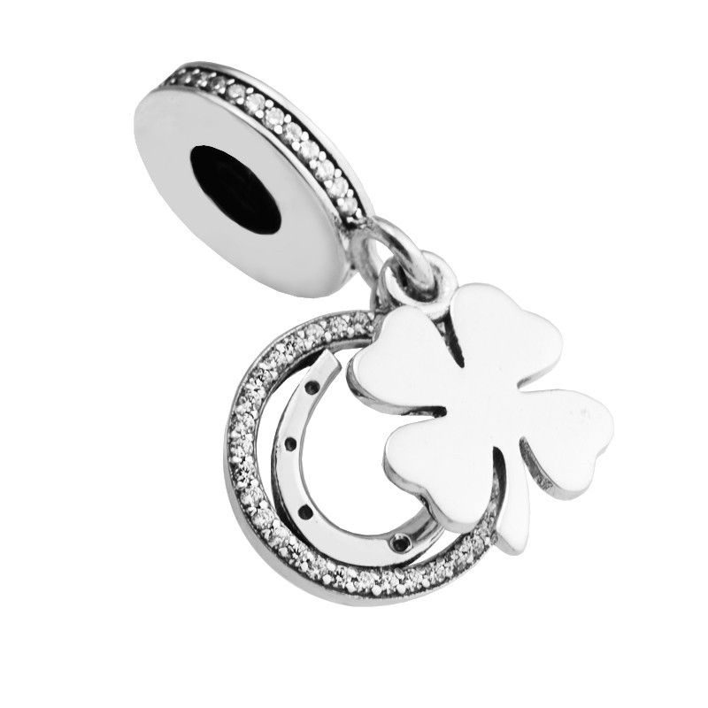 Sterling Silver /& Clear CZ Crystal Number 2 Charm