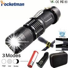LED Flashlight 8000LM Q5 T6 L2 Mini Portable Torch Adjustabl