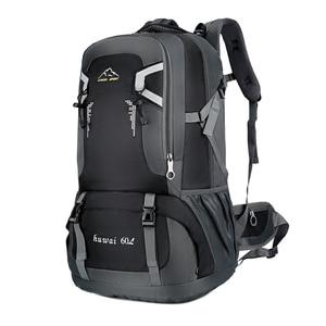 Image 1 - 60L עמיד למים יוניסקס גברים תרמיל נסיעות חבילת ספורט תיק חיצוני חבילת טיפוס הרים טיולי קמפינג תרמיל לזכר