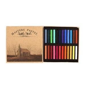 Однотонная пудра 12/24/36/48 цветов, гладкая мягкая Пастельная краска для волос, набор Тонер-мелки для рисования, Студенческая кисть с нижней адг...