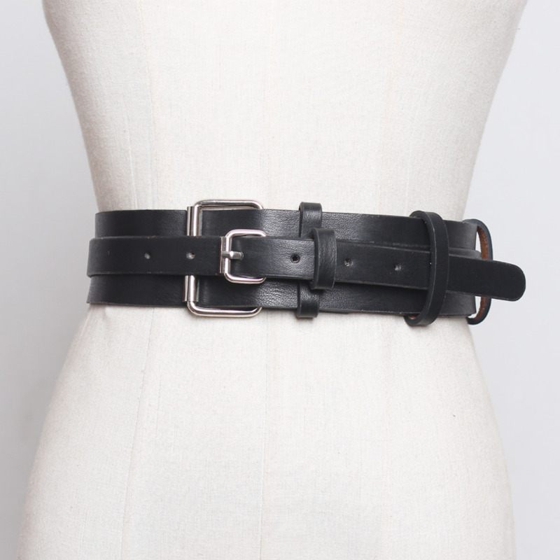 2020 High Fashion Leather Belts For Women All-match Corset Belt Trendy Solid Belt New Design Stylish Waistband Female Tide ZL062