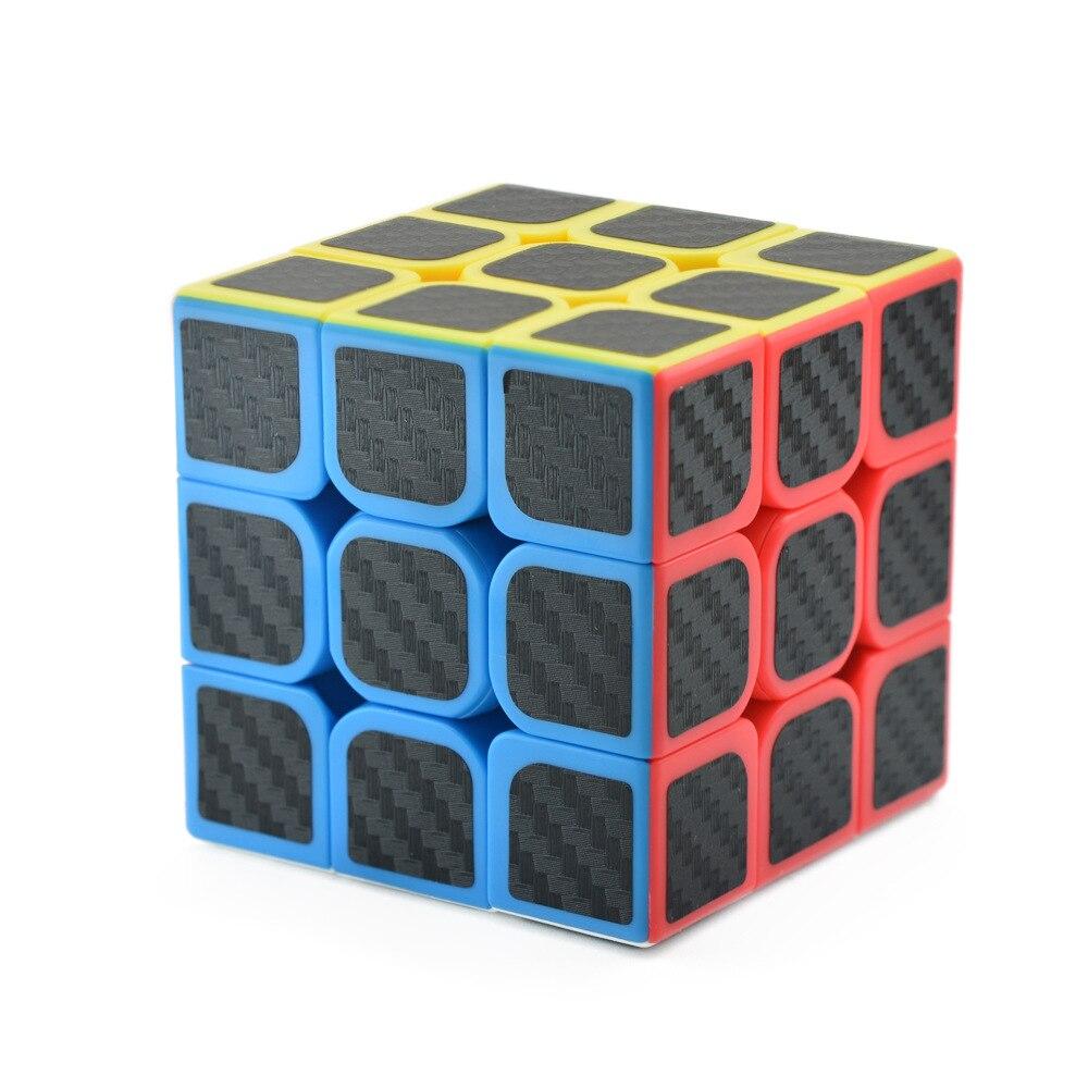 Rubix-Cube Speed Cubes 3x3x3 Smooth Magic Carbon Fiber Sticker Rubix Speed-Cube Cool Children Toys Kids Gifts