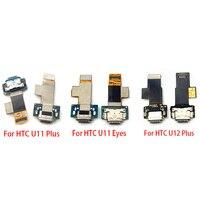Usb porto de carregamento doca carregador plug conector placa cabo flexível para htc u11 mais jogar vida u ultra u12 plus