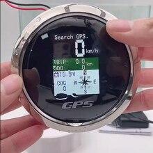 防水tftスクリーンデジタルgpsスピードメーターゲージ85ミリメートルmphノットキロ/h調整 + gpsアンテナ走行距離についてボート車オートバイ