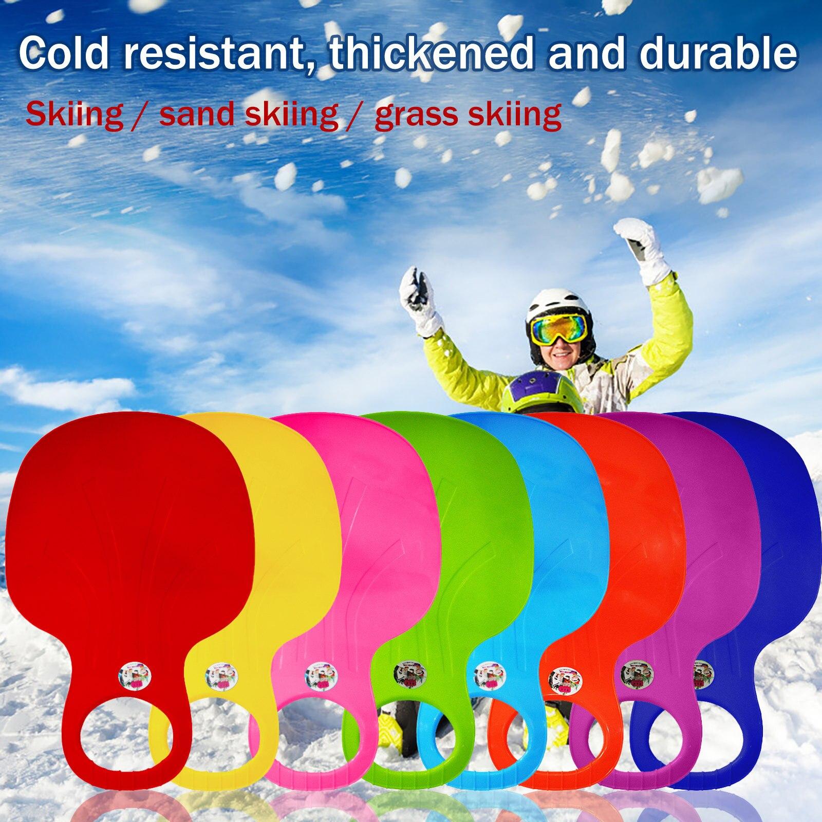 Tapis de ski de plein air, Sports d'hiver, planche de traîneau en plastique épais, glisseur de traîneau, 2021