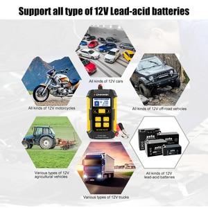 Image 5 - KONNWEI KW510 جهاز اختبار بطارية السيارة الأوتوماتيكي بالكامل ، 12 فولت ، شاحن بطارية 5A ، أداة إصلاح هلام الرصاص AGM
