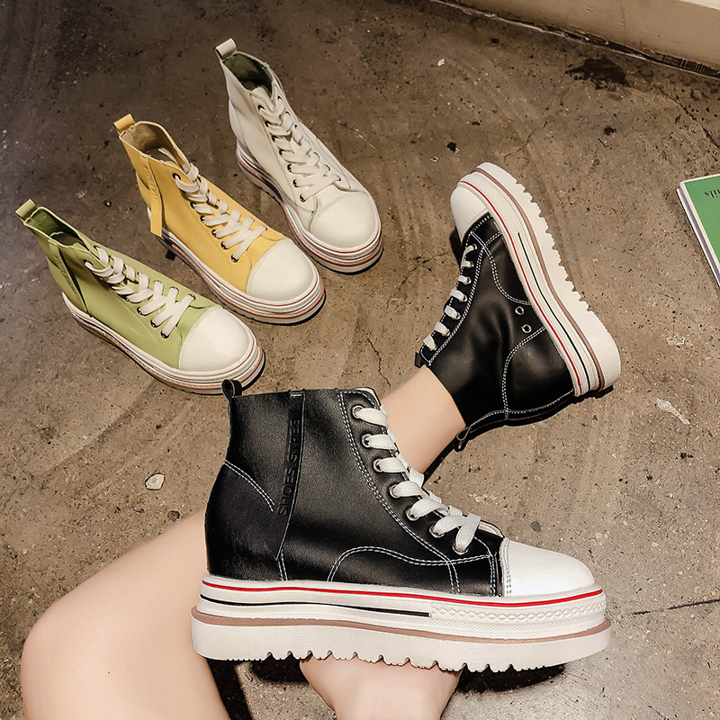 Womens Sneakers Shoes 2018 Fashion shoes Woman-shoes Platform Tennis Female Designer Women's Thick Summer Black Trainers Cotton