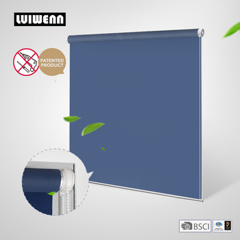 LUIWENN 100% Blackout Tension Roller Blinds No Drill Installation Inside Mount Only Window Roller Shutters For Windows Room