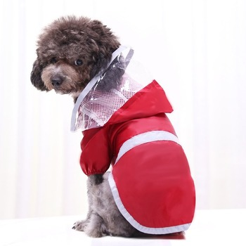 Raincoat Medium Pet Clothing Waterproof for Dog Clothes Coat Dogs Costume French Bulldog Cute Fashion Spring Red Boy Mascotas image