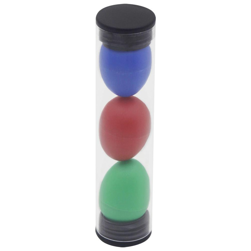 3 Pcs Sand Egg Cylinder Orff Instrument Set African Drum Ukulele Dedicated Shakers Random Color For Kid Children KTV Party Game