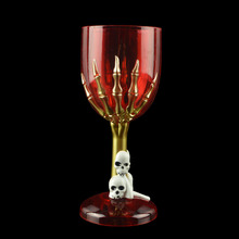 Halloween Cup Goblet Cup with Spooky Scary Skeleton Hand SKull Claw Skeleton Halloween Demon Cups Bar Party Props Ghost Claw Cup  - buy with discount