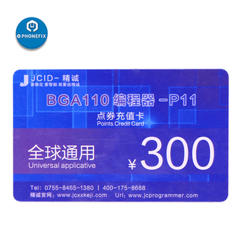 JC P11 BGA110 Programmer VIP Card 300 Credit Points for JC P11 P11F Nand Flash Underlying Data JC Software Online Activation
