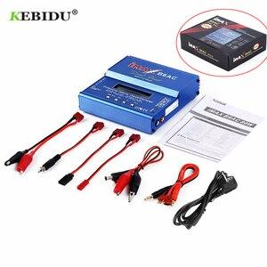 Image 2 - Kebidu imax b6 ac 80 w b6ac lipo nimh equilíbrio carregador de bateria rc digital lcd tela descarregador ue eua fonte alimentação