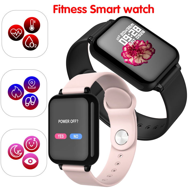 Men Women Fashion Sport Fitness Smart watch Bracelet Heart Rate Monitor Waterproof Blood Pressure SmartWatch For IOS And Android|Women's Watches| |  - title=