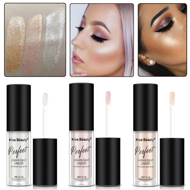 Liquid Highlighter Face Skin Brightener Makeup Shimmer Face Glow Make Up Long-lasting Easy to Wear image