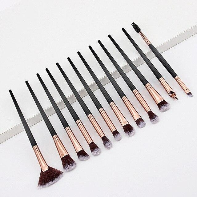 12PCS Makeup Brushes Set Eye Shadow Eyeshadow Brushes Foundation Extension Make up Brush Kits pincel Maquiagem For Makeups Tools 5