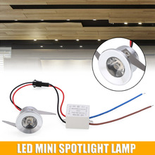 1pc 1W/3W LED Mini Spotlight Lamp Recessed Ceiling Mounted Downlight Ceiling Light Practical Mayitr