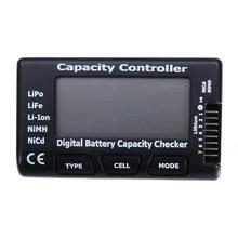 Medidor de capacidad de batería Digital LCD para vehículos teledirigidos, herramienta de bricolaje con pantalla de 7 y 2,1 pulgadas, medidor de comprobación de capacidad para batería LIPO 2-7S