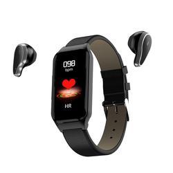Relógio inteligente masculino feminino smartwatch para android ios freqüência cardíaca relógio de pressão arterial bluetooth fone de ouvido dois-em-um banda smartwach