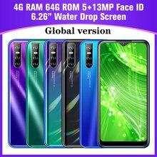 Tela de gota de água quad core global a30s smartphones android 6.26