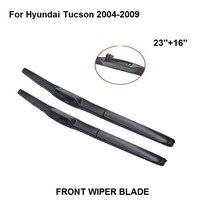 Lâmina dos limpadores do pára-brisas do carro dos accessaries para hyundai tucson 2004-2009 23 windshield + 16 windshield pára-brisa de borracha natural