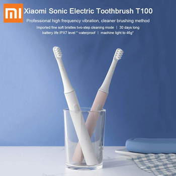 For Xiaomi Mijia T100 Mi Smart Electric Toothbrush 46g 2 Speed Xiaomi Sonic Toothbrush Whitening Oral Care Zone Tool new color