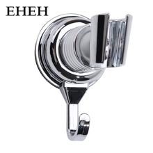 EHEH Chrome-Plate Shower Head Holder ABS Plastic 360 Degrees Adjustable Vacuum Suction Cup Showerhead Support Brackets