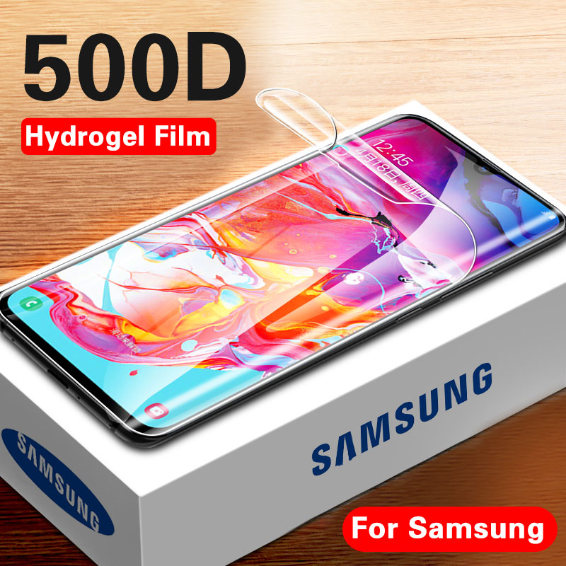 500D Full Cover Screen Protector On For Samsung Galaxy A10 A20 A30 A50 A70 Protective Hydrogel Film S8 S9 S10 Plus S10e No Glass