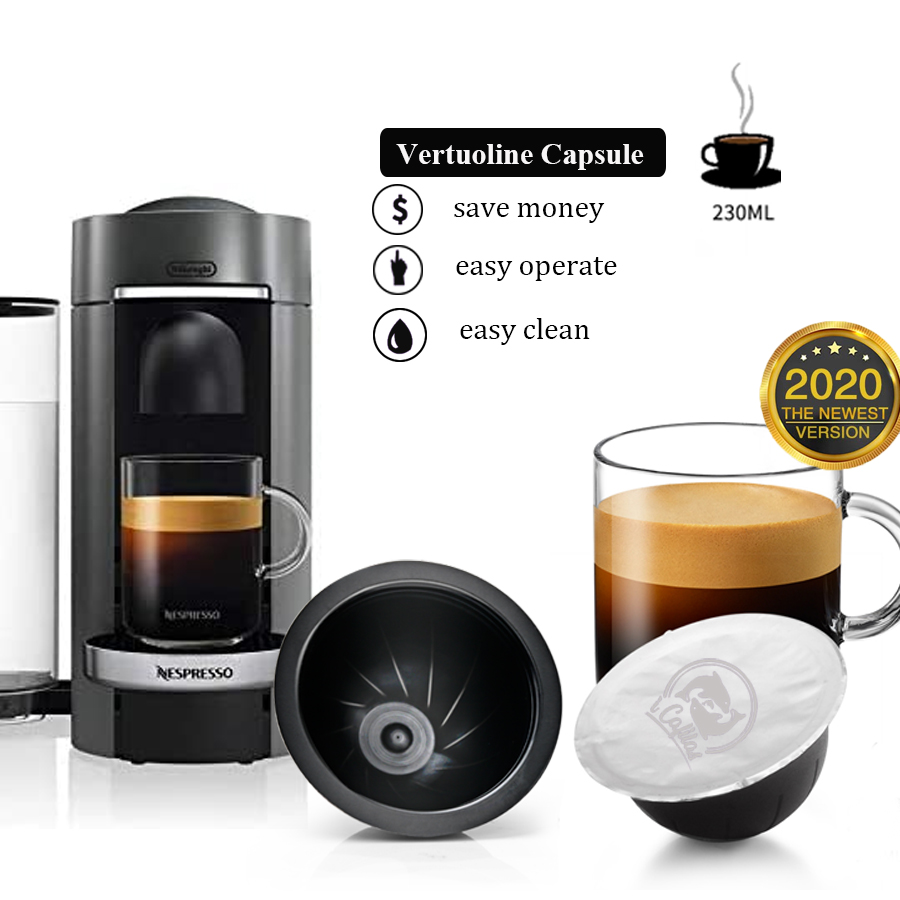 Reusable Coffee Capsules, Stainless Steel Refillable Vertuo Pods Compatible With Nespresso Vertuoline GCA1 And Delonghi ENV135