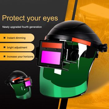 Welding Mask Welding Helmet Solar Auto Darkening Proof Splash Safety Welding Mask Air Fed Welding Helmet Welding Protective Tool welding mask best optical quality 1 1 1 1 big view 100 73mm 3 94 2 87 respirator safety hat compatible ce solar welding helmet