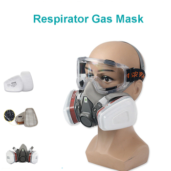 Anti Dust Respirator Filter Gas Mask Set Chemical Anti-dust Masks Industrial Paint Spraying Protective Mask Workplace PM005 the new 2017 gas mask medical silicone paint dust dust respirator masks spraying pesticide chemical activated carbon industry