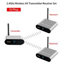 Measy 2.4Ghz 200M Wireless AV Sender AV220 2 TV Transmitter Receiver Set Stereo Audio Video TV AV Signal Sender