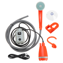 Portable Car Washer Camping Shower High Pressure Car Shower Washer Water Gun Electric Water Pump Outdoor Travel Take Shower Set