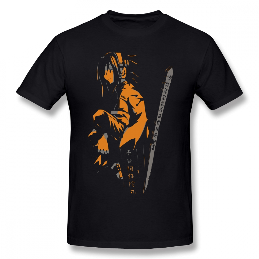Shaman King T Shirt Shaman King Yoh Orange T-Shirt 100% Cotton Short Sleeve Tee Shirt Funny Man Print Plus Size  Summer Tshirt